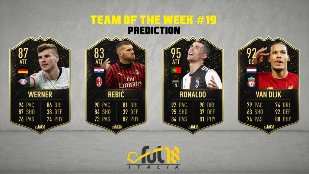 FIFA 20: TOTW 19 prediction
