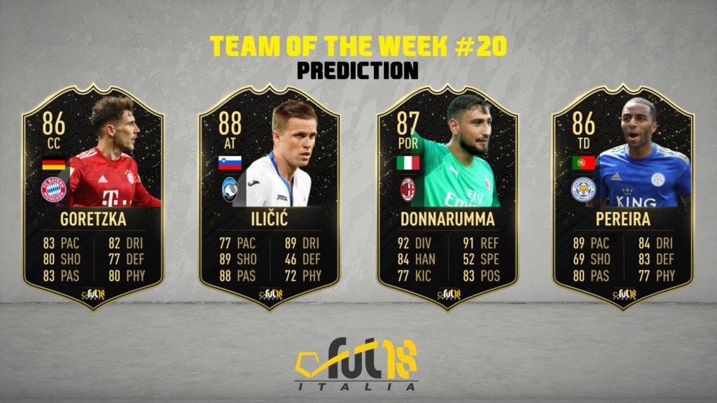 FIFA 20: TOTW 20 prediction