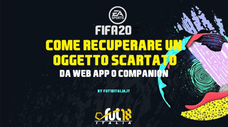 FIFA 20: guida per recuperare un oggetto scartato