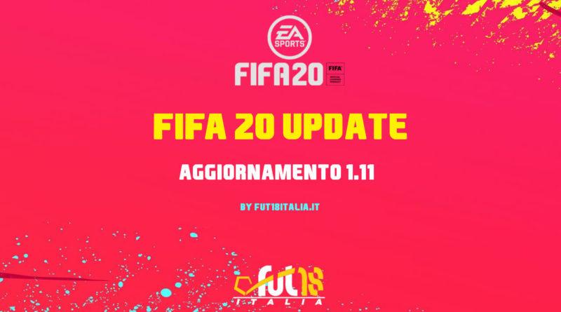 FIFA 20: update 1.11