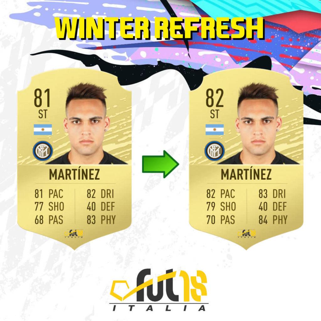 FIFA 20: Lautaro Martinez Winter Refresh ratings upgrade