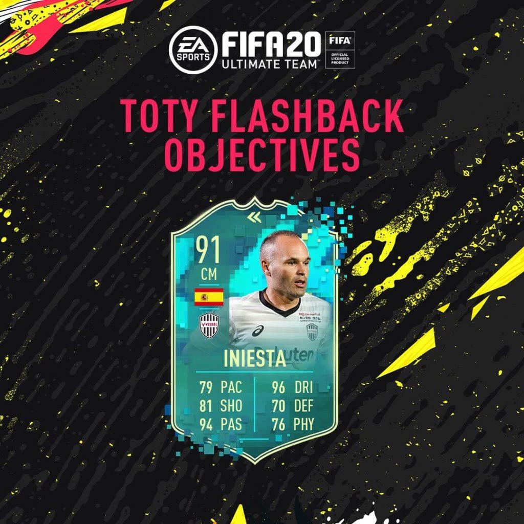 FIFA 20: Iniesta TOTY flashback obiettivi