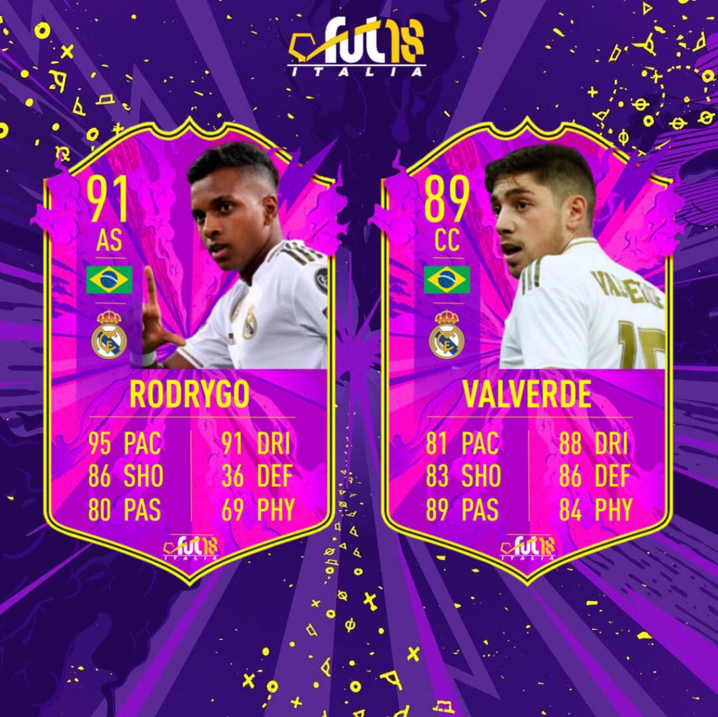 FIFA 20: Rodrygo e Valverde Future Stars prediction