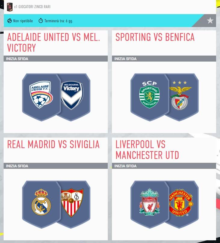 FIFA 20: SCR incontri principali del 16 gennaio