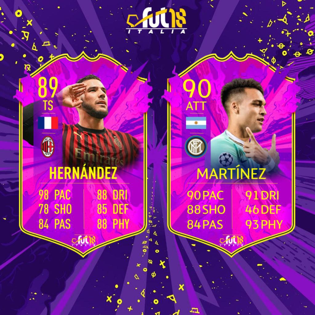 FIFA 20: Lautaro Martinez e Theo Hernandez Future Stars prediction