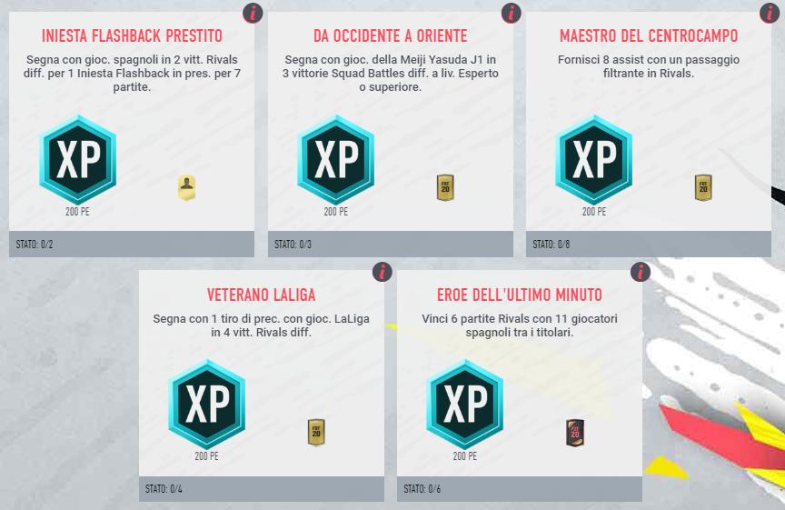 FIFA 20: obiettivi settimanali per Iniesta TOTY flashback