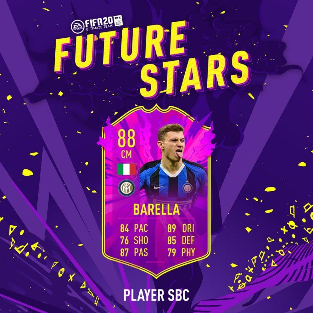 FIFA 20: Barella Future Stars SBC