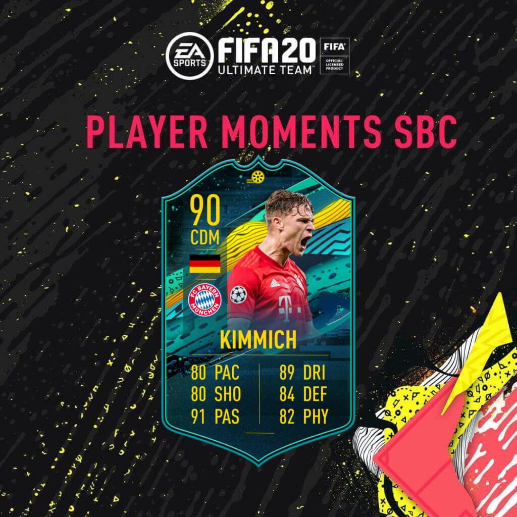 FIFA 20: Kimmich player moments SBC