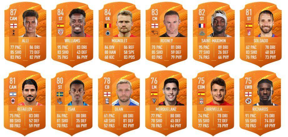 FIFA 20: MOTM cards