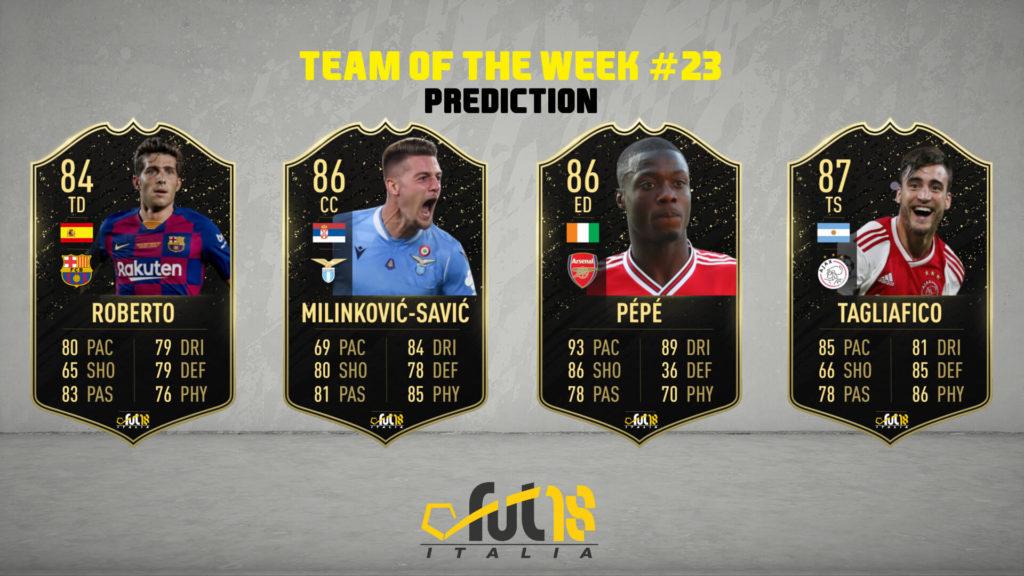 FIFA 20: TOTW 23 prediction