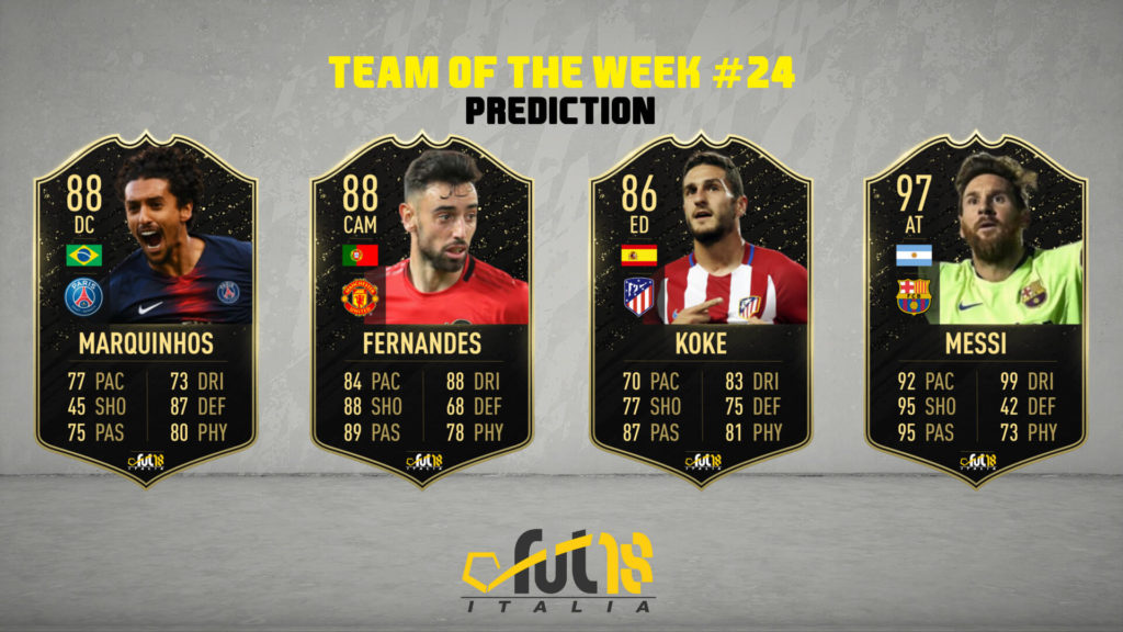 FIFA 20: TOTW 24 prediction