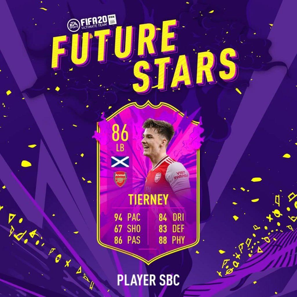 FIFA 20: Tierney Future Stars SBC