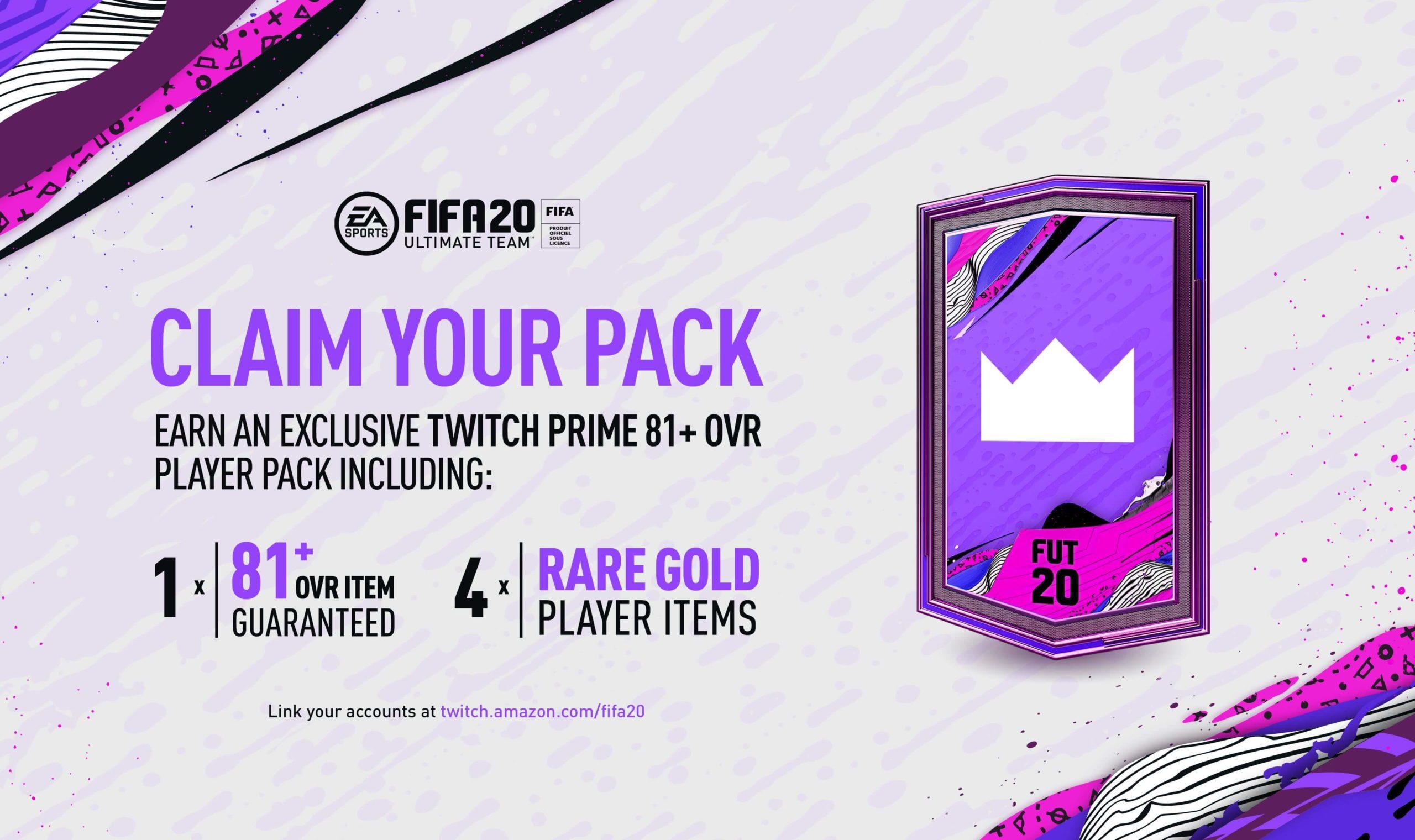 FIFA 20: come collegare account FUT a Twitch Prime per ricevere il pack omaggio