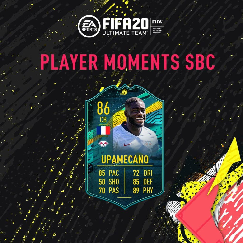 FIFA 20: Upamecano Player Moments SBC