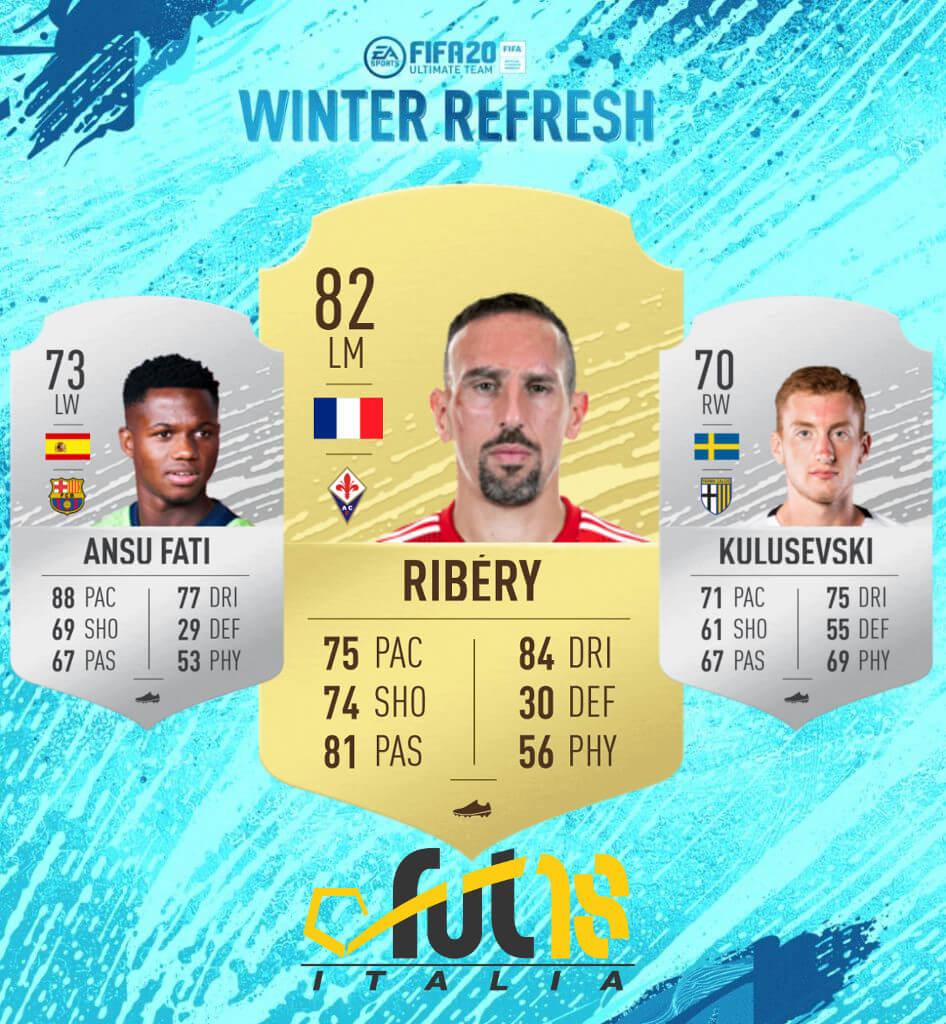 FIFA 20: aggiunti al database FUT Ansu Fati, Ribery e Kulusevski
