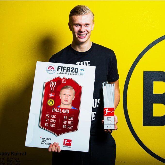 FIFA 20: Haland POTM di gennaio in Bundesliga
