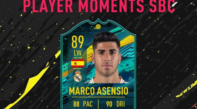 FIFA 20: Asensio 89 player moments SBC