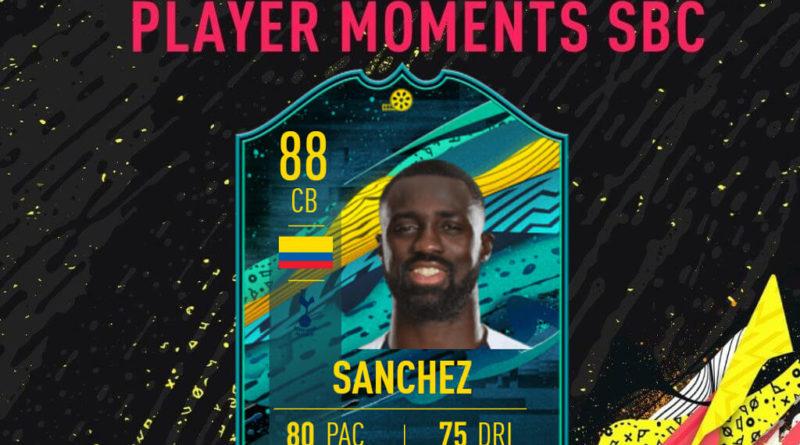 FIFA 20: Davidson Sanchez player moments SBC