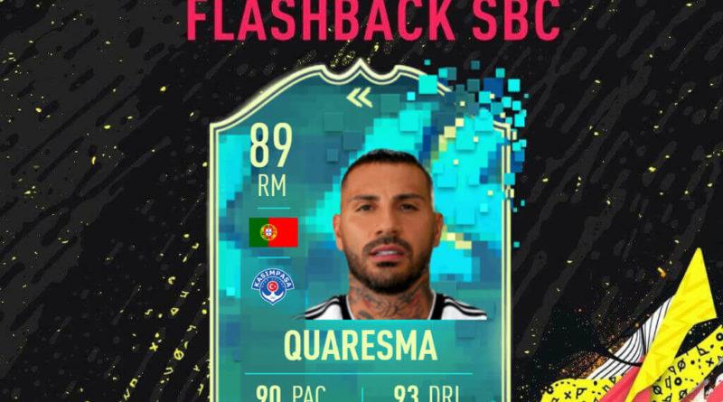 FIFA 20: Quaresma flashback SBC