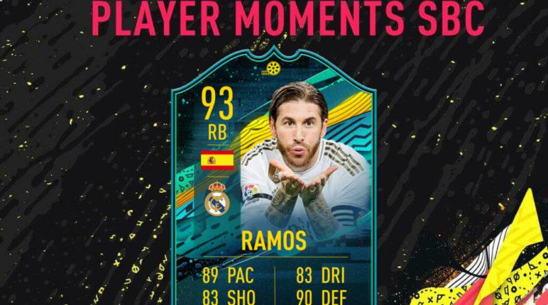 FIFA 20: Sergio Ramos player moments SBC
