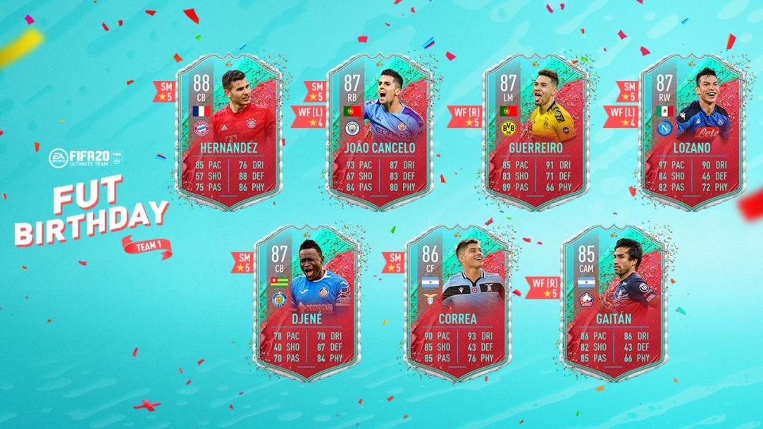 FIFA 20: FUT birthday team