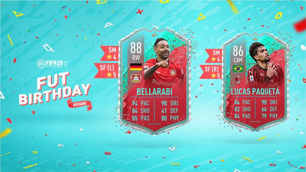 FIFA 20: FUT Birthday Bellarabi e Paqueta via obiettivi