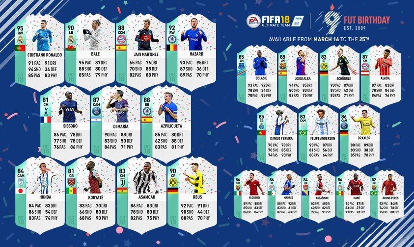 FIFA 18: FUT Birthday special team