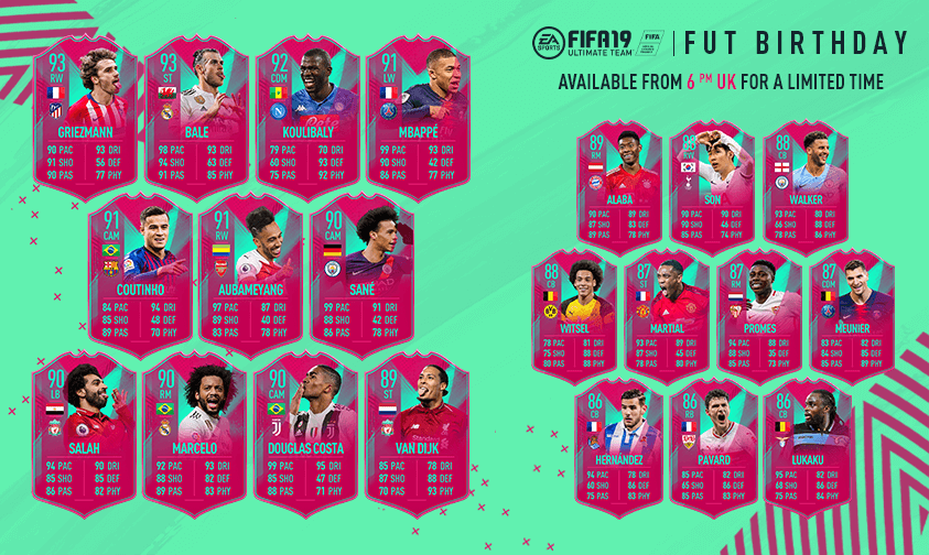 FIFA 19: FUT Birthday special team