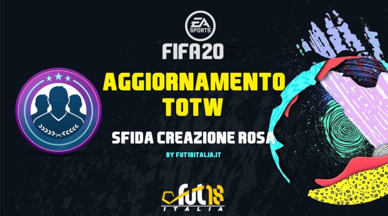 FIFA 20: SCR aggiornamento TOTW garantito