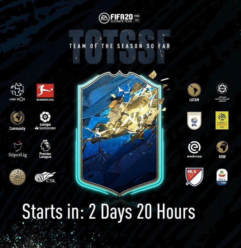 FIFA 20: confermati 16 team TOTSSF