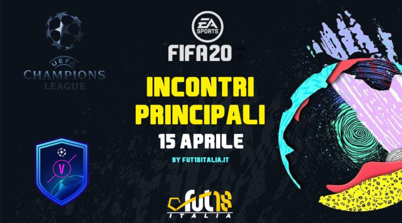 FIFA 20: SCR incontri principali UEFA del 15 aprile