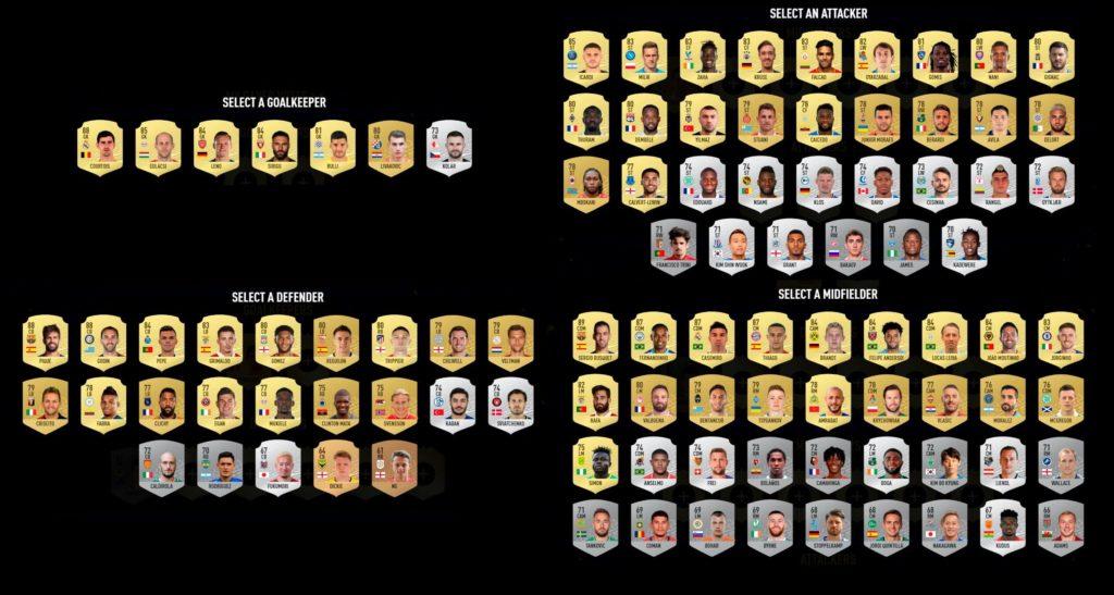 FIFA 20: candidati al TOTSSF Community
