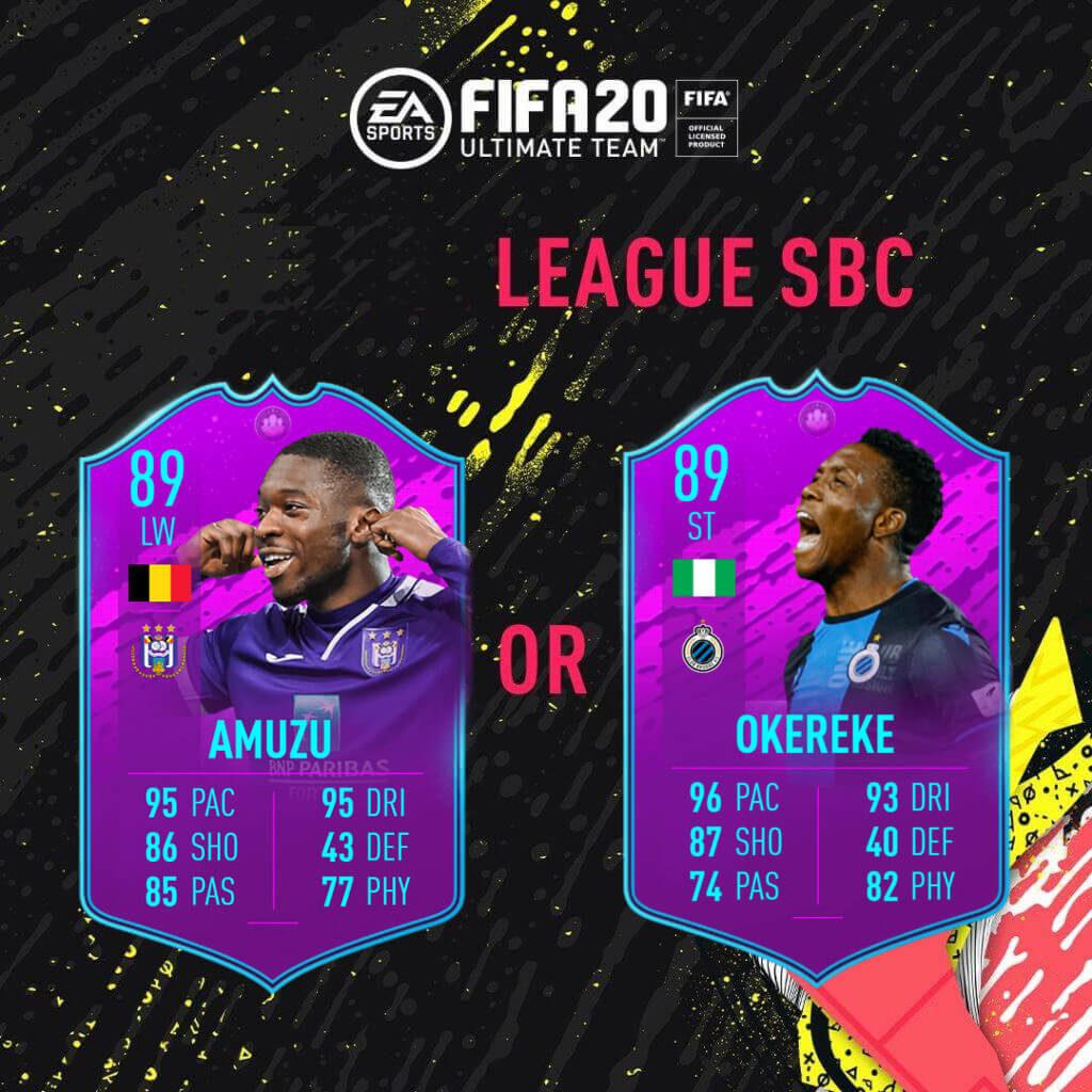 FIFA 20: Belgium PRO League SBC