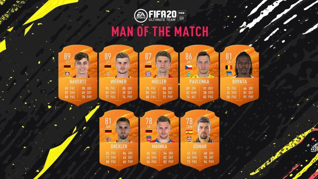 FIFA 20: MOTM Bundesliga del 27 maggio