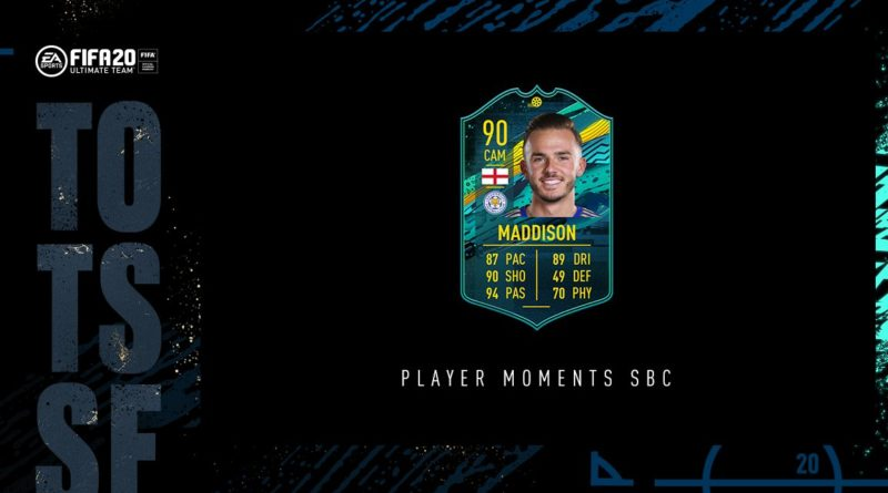 FIFA 20: Maddison player moments SBC