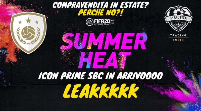 FIFA 20 Summer Heat: compravendita per la SBC Icon Prime garantita