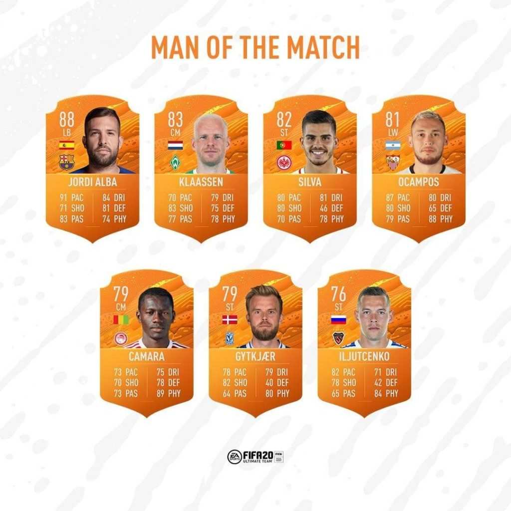 FIFA 20: MOTM del 17 giugno