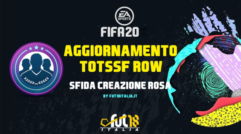 FIFA 20: SBC TOTSSF Resto del Mondo garantito