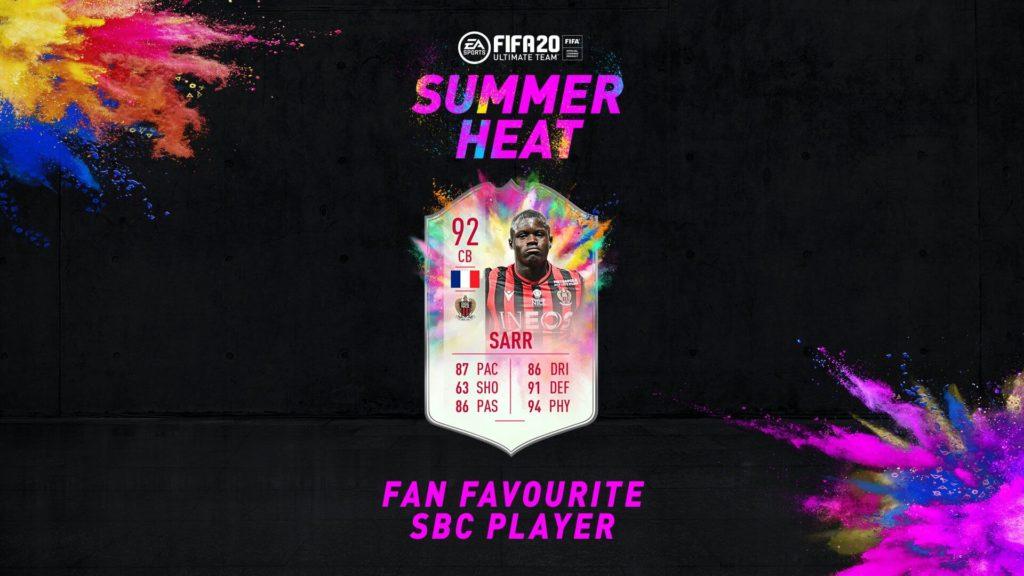 FIFA 20: Sarr Summer Heat SBC