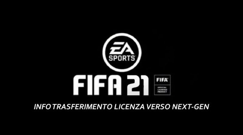 FIFA 21: trasferimento licenza di un gioco verso console next-gen