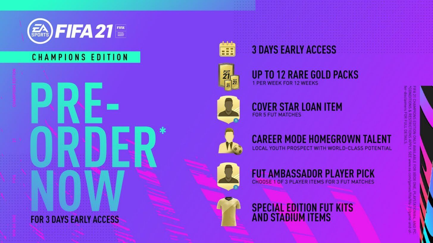 FIFA 21 Champions Edition: bonus preorder