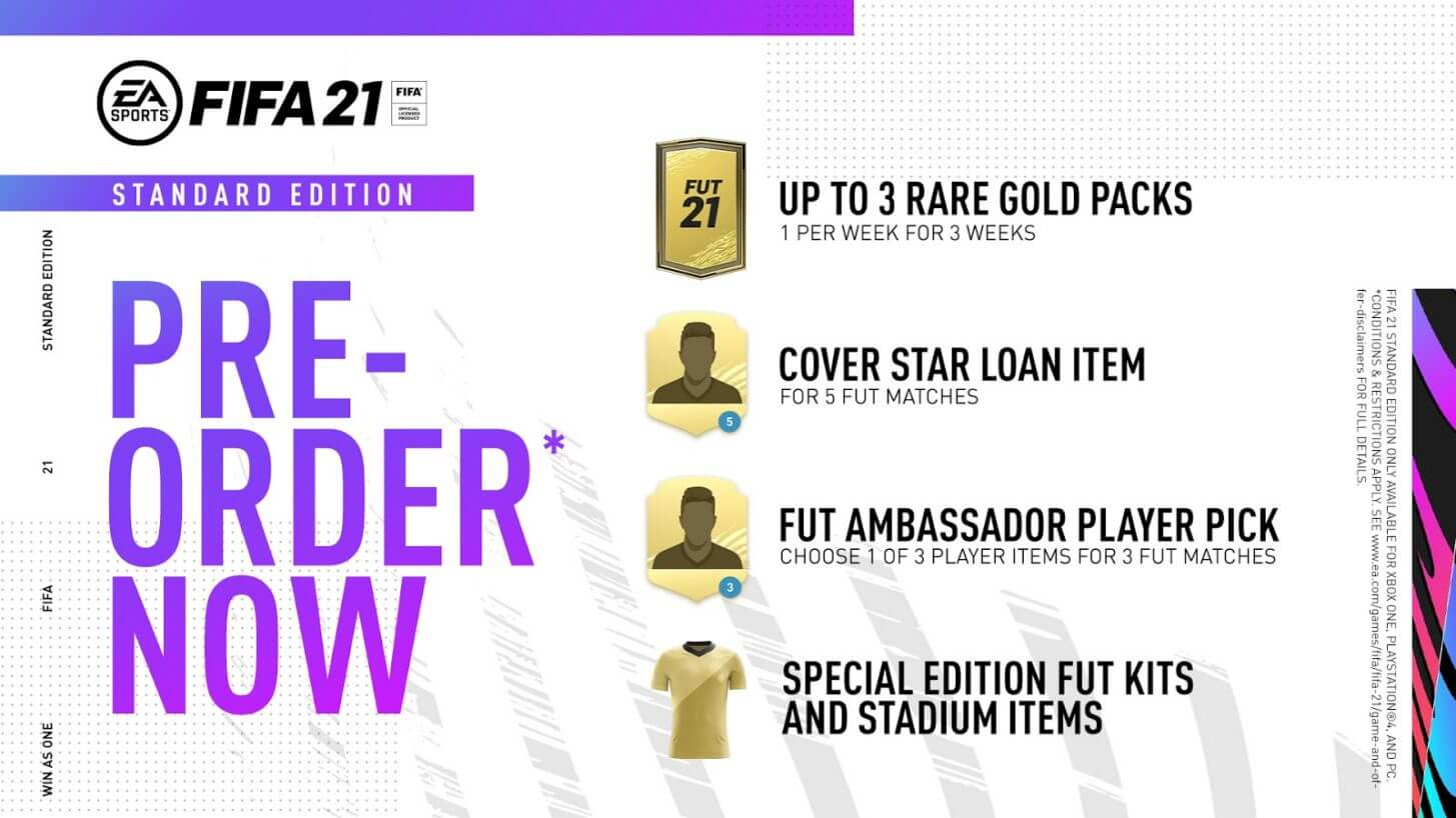 FIFA 21 Standard Edition: bonus preorder