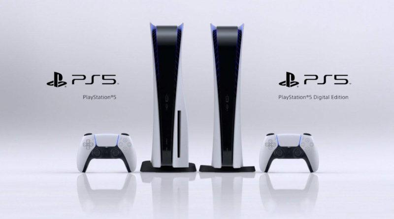 PlayStation 5 e PS5 digital edition design ufficiale