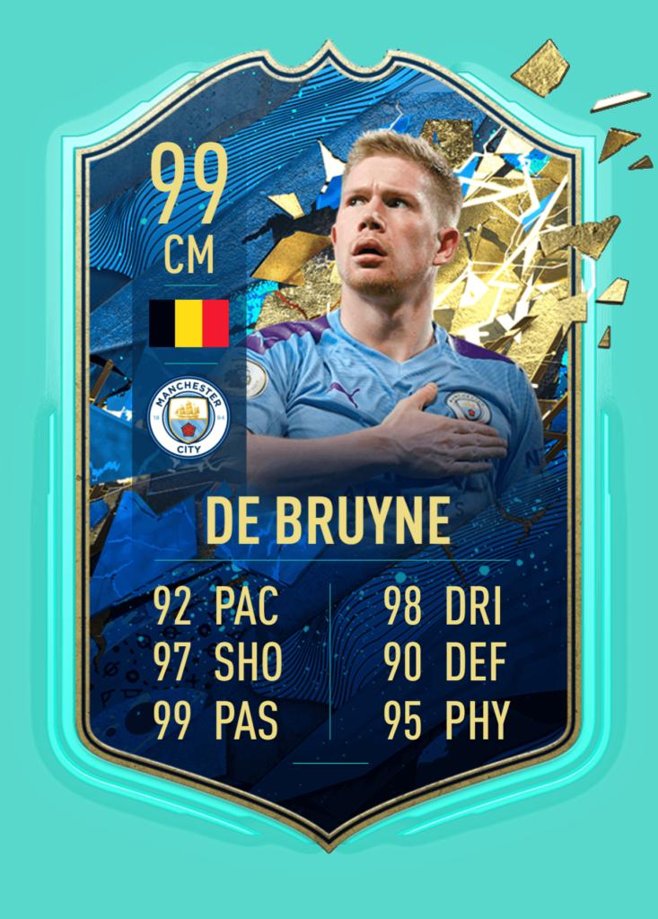 FIFA 20: De Bruyne TOTSSF nel TOTW 43