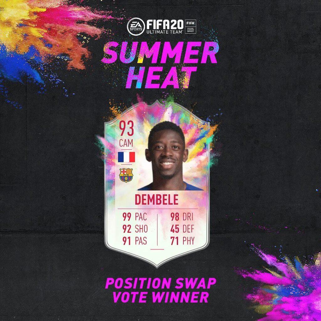 FIFA 20: Dembele Summer Heat SBC