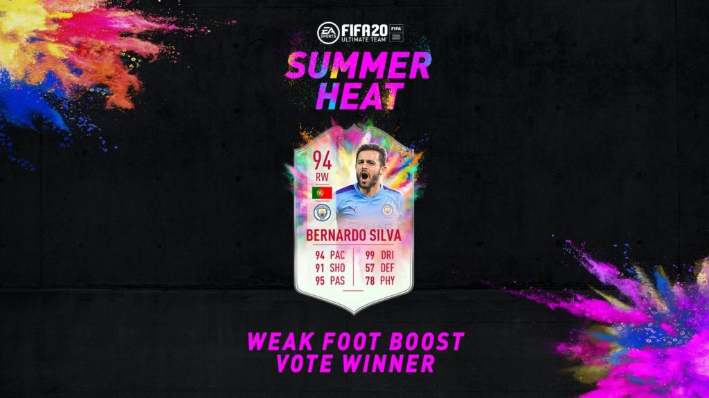 FIFA 20: Bernardo Silva Summer Heat SBC