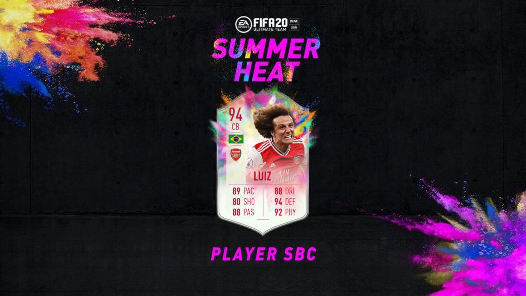 FIFA 20: David Luiz Summer Heat SBC