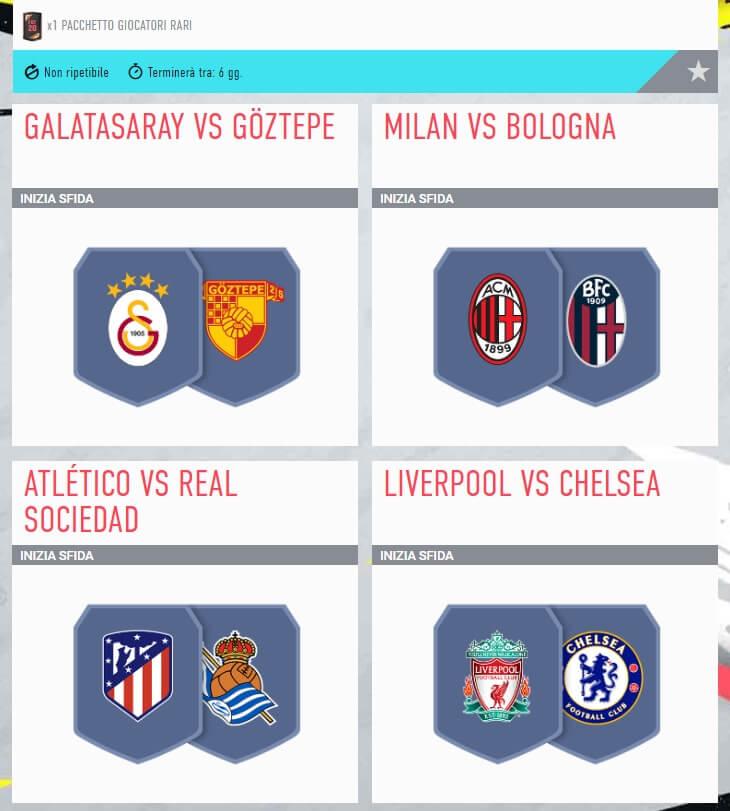 FIFA 20: SBC incontri principali del 16 luglio