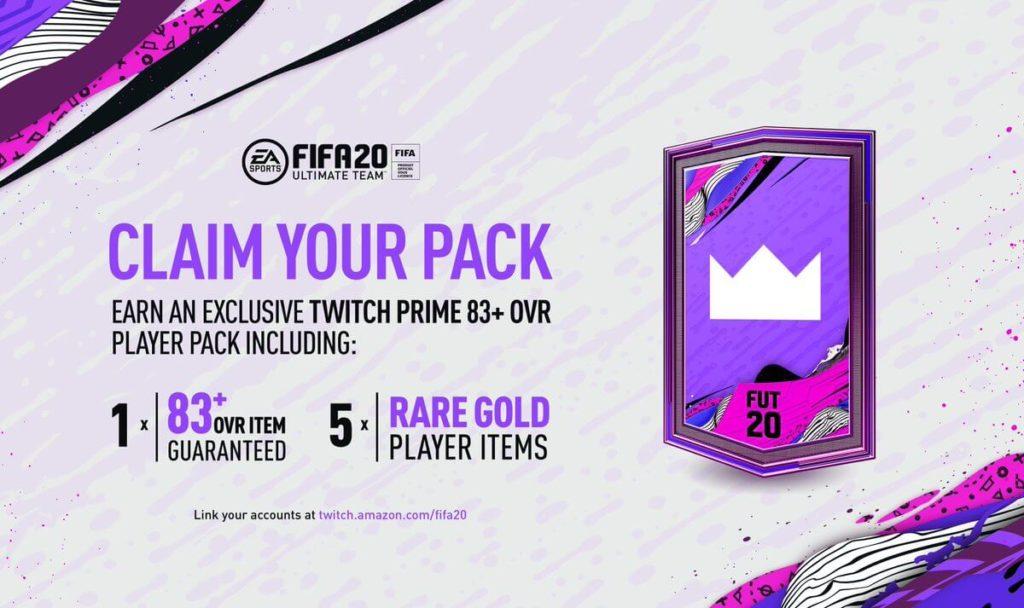 FIFA 20: Twitch Prime pack omaggio di luglio