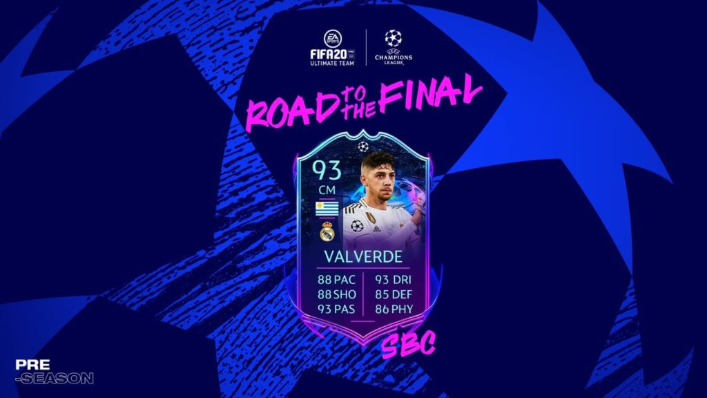 FIFA 20 Pre-Season: Valverde UCL Live SBC